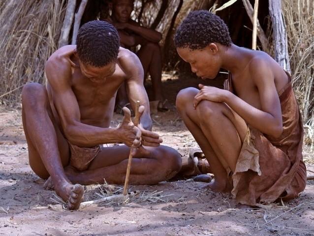 Фото бушмены племени Сан