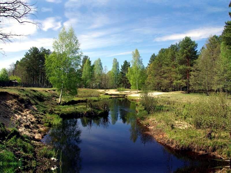 Река Вишня в посёлке Рустай фото