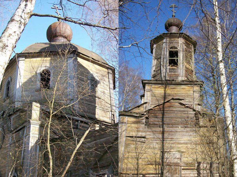 Деревянная церковь в селе Покровское фото