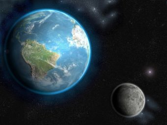 Картинка Земля и Луна