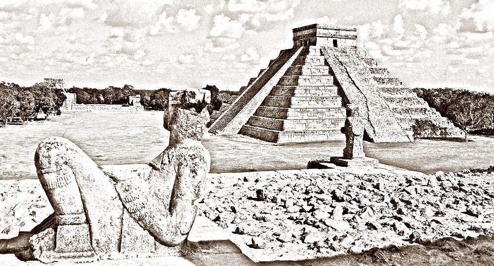 19 расселение человека по Земле -пирамиды майя