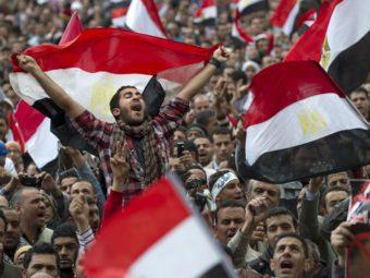 Фото протесты в центре Каира