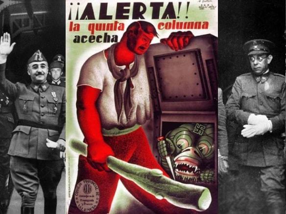 Плакат Испания пятая колонна