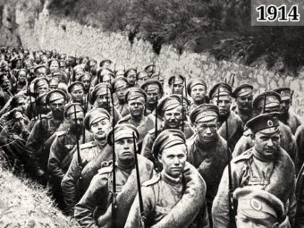 Фото русская армия на марше - Первая мировая война