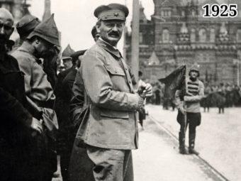 Фото 1918 год - Лев Троцкий на параде на Красной площади