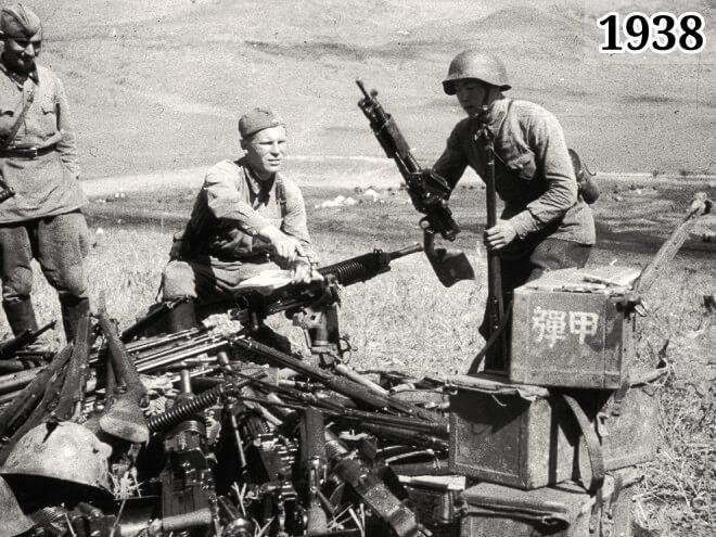 Фото советские солдаты собирают японские трофеи 1938 год
