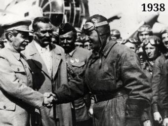 Фото Иосиф Сталин, Максим Горький, Валерий Чкалов