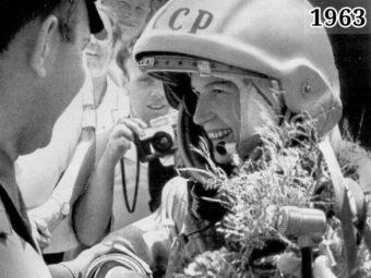 Фото Валентина Терешкова в скафандре 1963 год