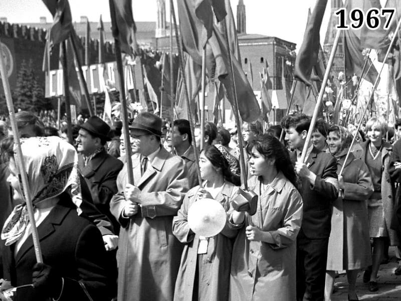 Фото первомайская демонстрация Москва 1967 год