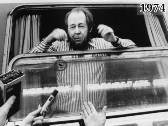 Фото Александр Солженицын прибыл в Цюрих