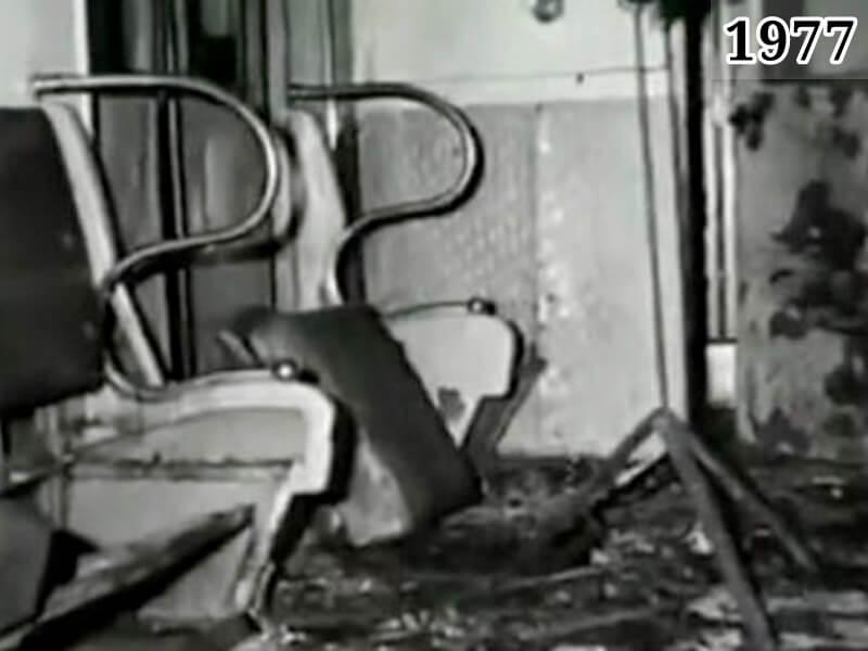 Фото результат взрыва бомбы в вагоне метро. Москва, 8 января 1977 года