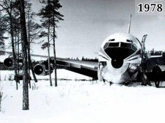 Фото Авиалайнер Boeing 707 на озера Корпиярви в Карелии 1978 год