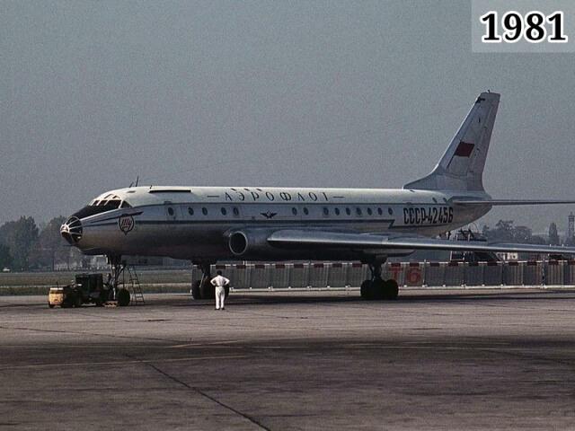 Фото ТУ-104 аналогичный разбившемуся 7 февраля 1981 года