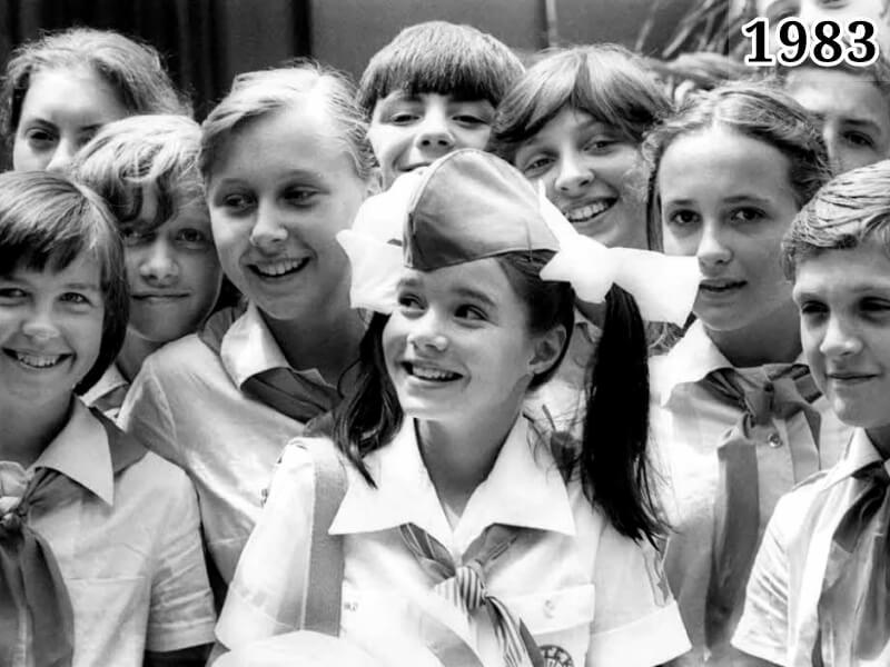 Фото Саманта Смит в пионерском лагере Артек 1983 год