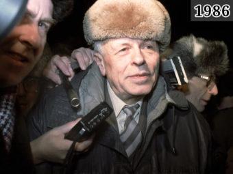 Фото возвращение Сахарова в Москву, Ярославский вокзал, 23 февр 1986 года