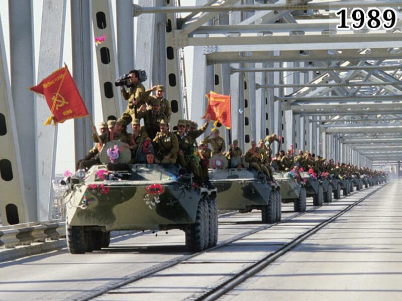 Фото советские войска пересекают афгано-советскую границу 1989 год