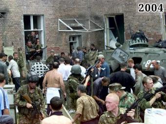 Фото освобождение заложников в школе. Беслан, 1 сентября 2004 года