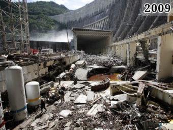 Фото восстановительные работы на Саяно-Шушенской ГЭС