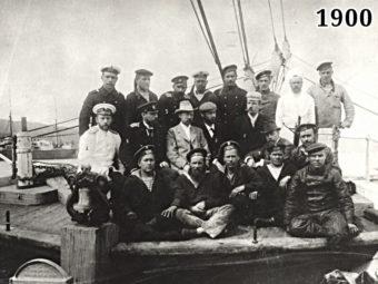 Фото участники полярной экспедиции на шхуне Заря, 1900 год