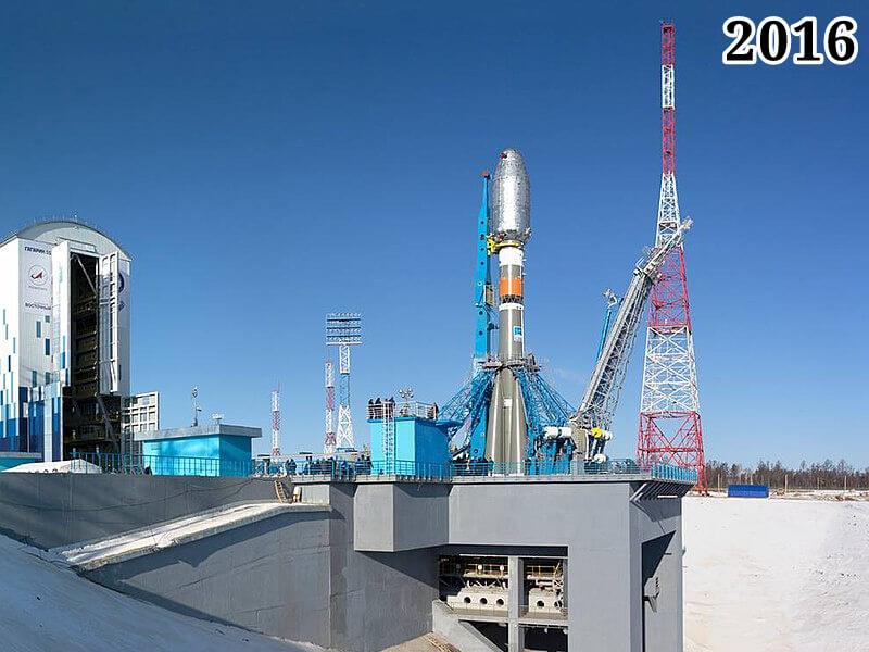 """Фото ракета-носитель """"Союз 2.1а"""" перед стартом 28 апреля 2016 года"""