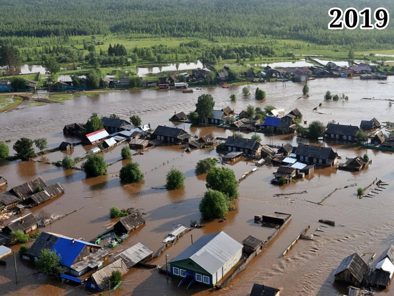 Фото Тулун во время наводнения 2019 год