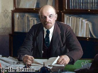 Фото Владимир Ленин в рабочем кабинете