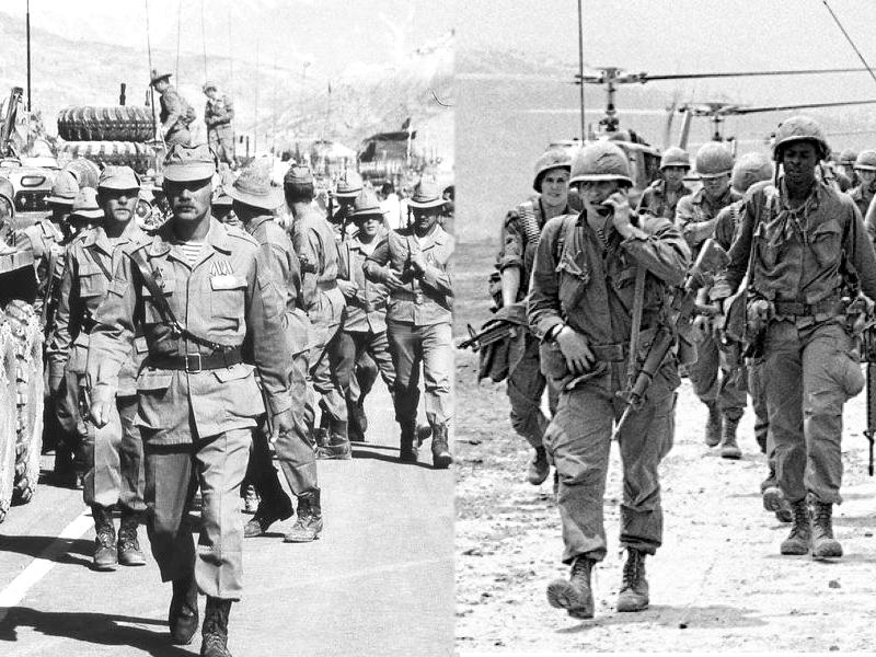 фото советские и американские солдаты в Афганистане и Вьетнаме