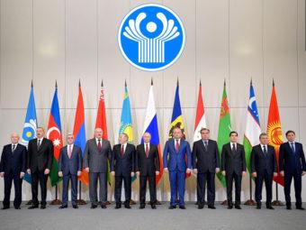 Фото перед заседанием Совета глав государств-участников СНГ. Сочи, 2017 год
