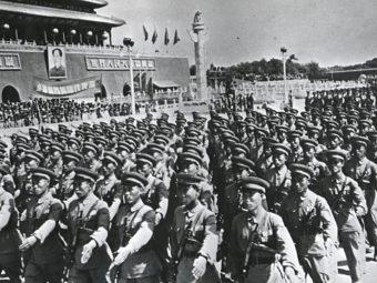 Фото части НОАК на параде. Пекин, 1949 год