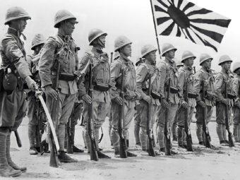 Фото подразделение Квантунской армии в Манчжурии